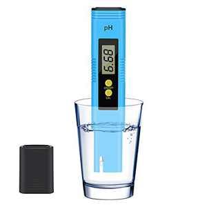 KWODE PH Meter Digital PH Tester Pen for Water/Food/Wine/Aquarium/Pool/Spa/Hydroponic, PH Water Meter Reader 0.01 High Accuracy Pocket Size with 0-14 PH Measurement Range (Blue)