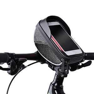 """CLOMAY Bike Bag, Waterproof Touch Screen Bicycle Phone Mount Bags, Front Frame Bike Handlebar Bags for iPhone X XS Max XR 8 7 Plus 6s 6 Plus 5s 5 / Samsung Galaxy s7 s6 Note 7 Cellphone Below 6.0"""""""