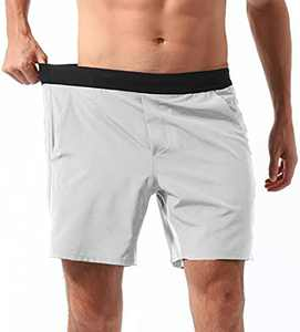 REYSHIONWA Men's 7 Inch Running Athletic Quick Dry Shorts Workout Training Basketball Gym Shorts with Pockets