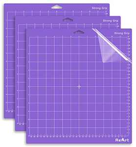 ReArt Strong Grip Cutting Mat for Cricut Explore One/Air/Air 2/Maker 12x12 inch 3 Pack