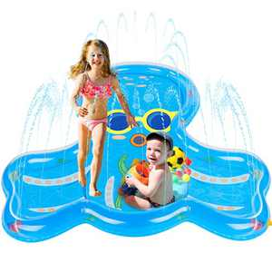 "BATURU Splash Pad for Toddlers, Kids Sprinklers Toys, 68"" Big Size Octopus Splash Play Mat for Backyard Outside"