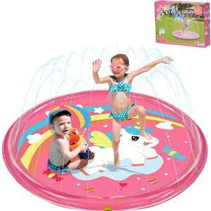 "BATURU Splash Pad for Girls/Kids/Toddlers, 68"" Big Unicorn Sprinkler Toys for Kids for Outdoor Backyard/Outside in Summer"