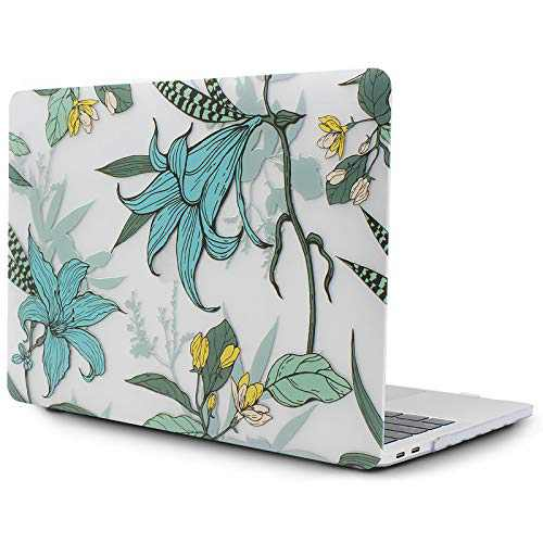 OneGET Laptop Case for MacBook Pro 16 Inch Case with Touch Bar Touch ID 2019 Release A2141 with Retina Display Retro Pro Cases Fashion MacBook Pro 16 Inch Hard Case Lily(F16)