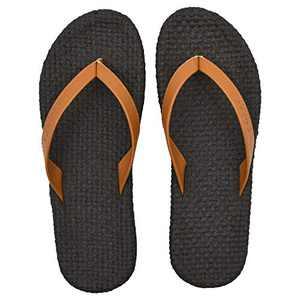 COFACE Womens Sandals Casual Yoga Mat Flat Flip Flops for Women Fashion Summer Beach Slippers(Color:Brown Size:8)