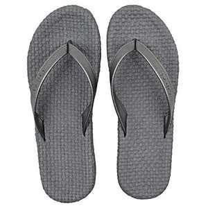 COFACE Womens Sandals Casual Yoga Mat Flat Flip Flops for Women Fashion Summer Beach Slippers(Color:Grey Size:6)
