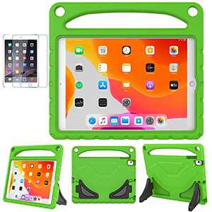 iPad 10.2/10.5 Case for Kids,iPad 7th/8th Gen(10.2 inch,2019/2020) / Air 3rd Generation / Pro 10.5 Case,SUPLIK Durable Shockproof Protective Handle Stand Cover, Green