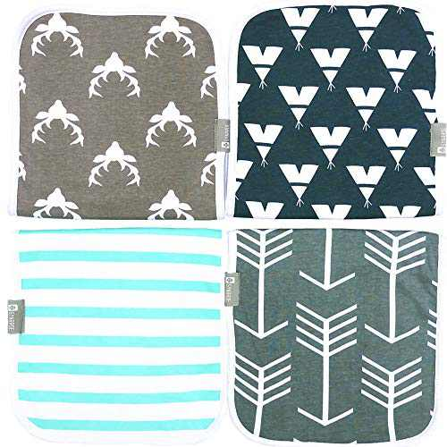 Synrroe Burp Cloths for Baby 20 by 10 Inches Big Size Cotton Triple lays Burping Rags