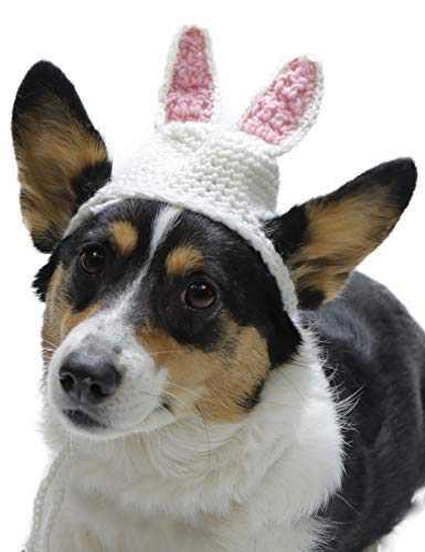 Coomour Pet Easter Hats Dog Bunny Costume Small Dog Rabbit Headwear Cap (L)