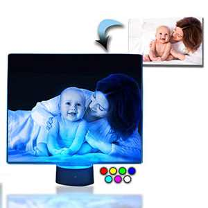 Innovatronix Personalized Acrylic Glass LED Photo Table Night Lamp - Laser Engraved - Gift for Mother's Day, Wedding, Anniversary, Birthday, Father's Day, Christmas, Baptismal, Giveaways, Souvenir