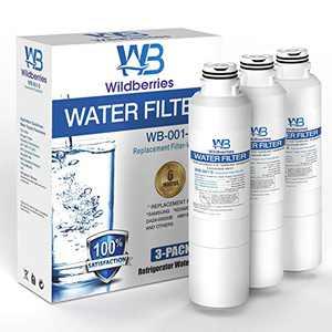 Wildberries Replacement for Samsung Fridge Water Filter Replacement - da97-08006a-1 Water Fridge Filter Compatible Samsung DA29-00019A, DA-97-08006A-B, HAF-CIN/EXP, Kenmore 46-9101, Pack of 3