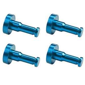 WallQmer Heavy Duty Aluminum Wall Hooks, 4 pcs, Blue, No Drilling Technology, Waterproof Rustproof, Door Hooks, Kitchen Hooks, Bathroom Towel Hooks, Coat/Robe Hooks, Key Hooks, for Kitchen, Door
