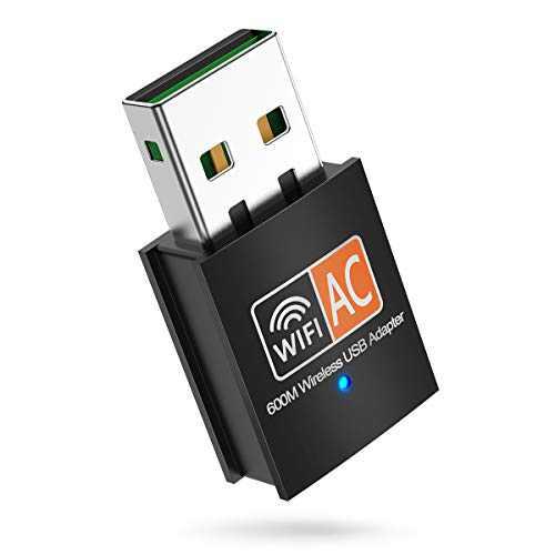 innOrca 600Mbps Mini Wireless Dual Band 2.4/5GHz USB WiFi Adapter LAN Antenna Network Adapter 802.11ac/a/b/g/n, Support Wi-Fi Hotspot, Wi-Fi encryption, Windows XP/7/8/10, Mac OS X