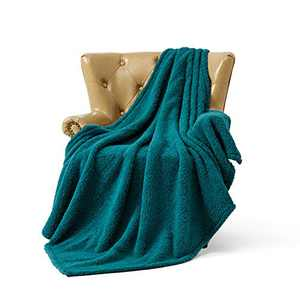 FFLMYUHUL I U Ultra Super Soft Lightweight Cozy Throw Blanket for Bed Couch Warm Fuzzy Sherpa Blanket/Throw Blanket for Shower Gift Black Green