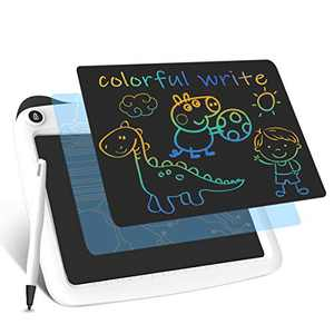Enotepad LCD Writing Tablets, Colorful Drawing Doodle Board 9 Inch Digital eWriter for Kids Portable Electronic Graphics White