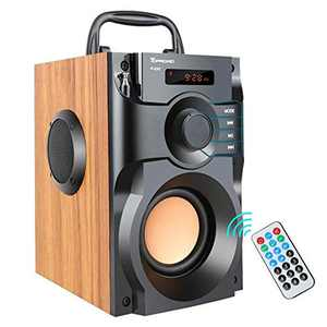 TOPROAD A100 Bluetooth Speaker Portable Wireless Stereo Bass Subwoofer with FM Radio Remote Control