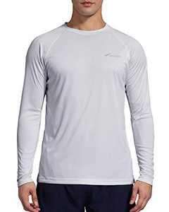 Men's Sun Protection Shirt UV Outdoor Performance Long Sleeve T-Shirt for Hiking Fishing Grey