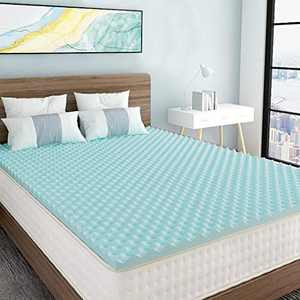 Milemont 3 inch Egg Crate Mattress Topper Queen Size-Gel Swirl Memory Foam Bed Pad for Cooling & Comfortable Sleep