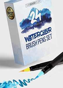 24 Real Brush Watercolor Pens: Simply Create Beautiful Watercolor Works of Art
