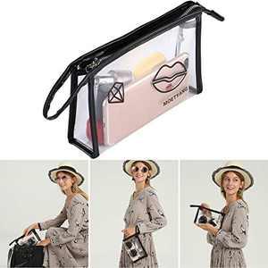 MOETYANG Womens Transparent Clutch Clear Purse PGA Stadium Approved Bags, Wristlet Wallet,Zipper Wristlets for Women