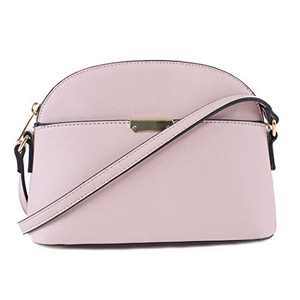 EMPERIA Ava Small Cute Saffiano Vegan Faux Leather Dome Crossbody Bags Shoulder Bag Purse Handbags for Women Blush