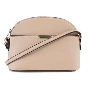 EMPERIA Ava Small Cute Saffiano Vegan Faux Leather Dome Crossbody Bags Shoulder Bag Purse Handbags for Women Light Pink