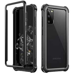 Dexnor Case for Samsung Galaxy S20 Without Screen Protector, Clear Hard PC Cover and Silicone Edges Shockproof Protective Bumper Defender Rugged Samsung S20 Case 5G for Men/Women - Black