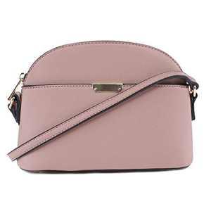 EMPERIA Ava Small Cute Saffiano Vegan Faux Leather Dome Crossbody Bags Shoulder Bag Purse Handbags for Women Mauve