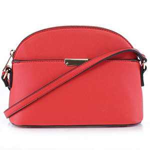 EMPERIA Ava Small Cute Saffiano Vegan Faux Leather Dome Crossbody Bags Shoulder Bag Purse Handbags for Women Red