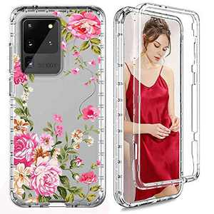 Galaxy S20 Ultra Case, Heavy Duty Full Body Drop Protection Shockproof Hybrid Cover, Hard Back, Soft TPU, Clear Front Cover Without Screen Protector,Compatible with Samsung Galaxy S20 Ultra 6.9""