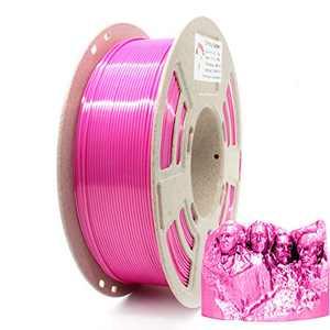 Reprapper Pink Silk PLA Filament for 3D Printer & 3D Pen 1.75 mm (± 0.03 mm) 2.2 lbs (1 kg)