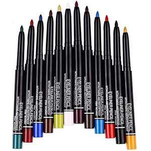 12 Kinds Of Color Eyeliner Pen, Eyebrow Pen,Eye Shadow Pencil , Lip Line Pen, Eyelid Pad, Pencil Makeup Set Tool (12PCS) (Multicolor)