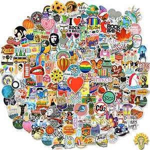 200 PCS Cool Waterproof Laptop Stickers, Vinyl Graffiti Aesthetic Stickers Decals for Water Bottle, Skateboard, Luggage, Guitar, Bike, Bumper, Motorcycle