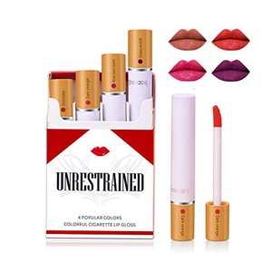 Matte Cigarette Lipstick Pack Set, 4 Colors Red Moisturizer Smooth Lip Stick, Long Lasting Waterproof Liquid Lipstick, Women Make up Velvet Cosmetic Lipsticks
