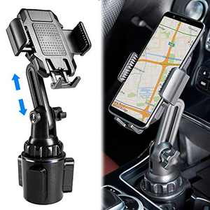 Upgraded Car Cup Holder Phone Mount Adjustable Gooseneck Phone Holder for Car Compatible with Phone case and iPhone 11 Pro/XR/XS Max/X/8/7 Plus/6s/Samsung S10 /Note 9/S8 Plus/S7 Edge
