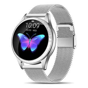 Yocuby Smart Watch for Women Lady, Fitness Tracker Compatible with iOS Android Phone, Sport Activity Tracker with Sleep/Heart Rate Monitor/Find My Phone/Physiological Reminder