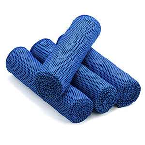 """foramor Cooling Towel 4 Packs,Ice Towel for Neck,Microfiber Towel Soft Breathable Chilly Towel 40""""x12""""for Yoga, Sports, Camping, Fitness, Gym, Workout,Camping & More(Blue)"""