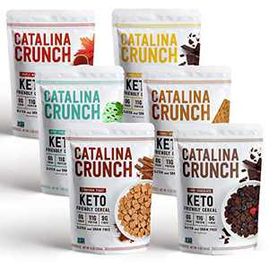 Catalina Crunch Keto Protein Cereal Variety Pack (6 Flavors), 9oz bags | Low Carb, Zero Sugar, Gluten & Grain Free, Fiber | Keto Snacks, Vegan Snacks, Protein Snacks | Keto Friendly Foods