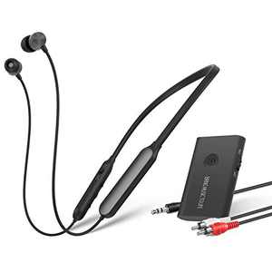 Giveet Wireless Headphones Earbuds for TV Watching, Neckband Earphones Hearing Set w/Bluetooth Transmitter for RCA, 3.5mm Ported TVs, Ideal for Seniors & Hearing Impaired, Plug n Play, No Audio Delay