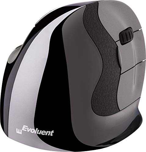 Evoluent VMDLW VerticalMouse D Large Right Hand Ergonomic Mouse with Wireless USB Receiver. The Original VerticalMouse Brand Since 2002