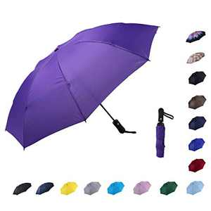 NOOFORMER Travel Inverted Automatic Umbrella – Reverse Windproof Golf Compact Lightweight Car Umbrellas for Men & Women