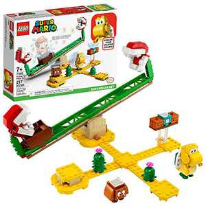 LEGO Super Mario Piranha Plant Power Slide Expansion Set 71365; Building Kit for Kids to Combine with The Super Mario Adventures with Mario Starter Course (71360) Playset, New 2020 (217 Pieces)
