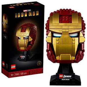 LEGO Marvel Avengers Iron Man Helmet 76165; Brick Iron Man-Mask for-Adults to Build and Display, Creative Challenge for Marvel Fans (480 Pieces)
