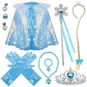Princess Dress Up Accessories Frozen Costume for Parties and Dressing-up Games(7 PCS)