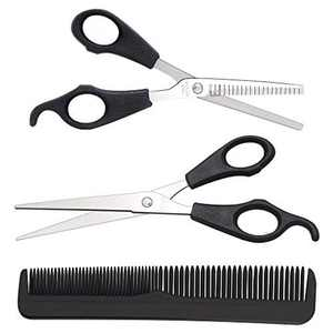 HAPPY FINDING Hairdresser Scissors Set, Professional Hair Scissors and Hair Thinning Scissors with Comb for Salon, Barbers or Home Use - Stainless Steel