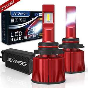 Bevinsee 9005/HB3/H10 LED Headlight Fog Light White 100W 15000LM 6000k Bulbs Kit-VC Cooling Tech,2pcs