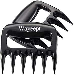Wayeept Pulled Pork Meat Shredder Claws Chicken Shredding Forks Bear Paws Easily Lift,Handle,Shred and Cut Meats Kitchen Utensil for Baking,BBQ,Roasting,Grilling