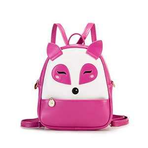 Girls Mini Mermaid Backpack Toddler 3D Animal Casual Daypack PU Leather Preschool Convertible Shoulder Bag Gift for Kids (Fuchsia)