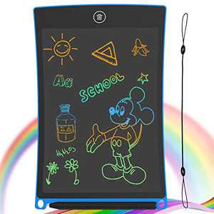 GUYUCOM 8.5-Inch LCD Writing Tablet Colorful Screen Doodle Board Electronic Digital Drawing Pad with Lock Button for Kids Adults(Blue)