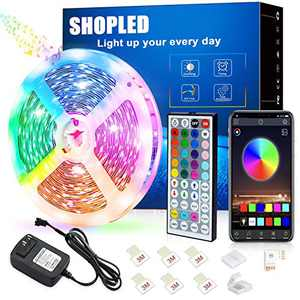 Led Strip Lights 20ft/6m Flexible Color Changing Led Lights Strip with Remote, Bluetooth, Power Supply Led Light 5050 RGB Led Tape Lights for Room, Bedroom, Bar, Tv, Kitchen, Home Decoration