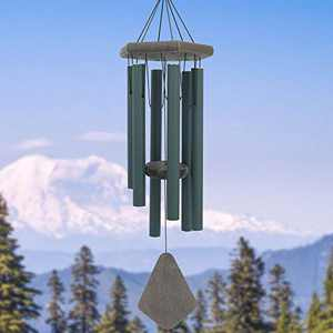 Wind Chimes Outdoor Deep Tone, 30 Inch Wind Chimes Outdoor, Memorial Wind Chimes with Hook as Gifts for Mother's Day/Housewarming/Christmas, Patio, Garden, Yard, Home Décor. Green
